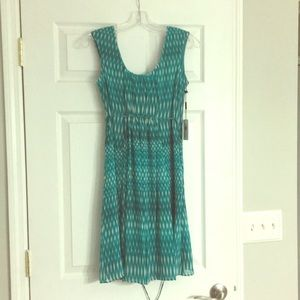 NWT Turquoise and white dress - size 2